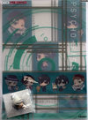 [Pre-owned] Psycho-Pass Clear File and Mini Figure with Lobster Clasp (Set) (Makishima Shogo)